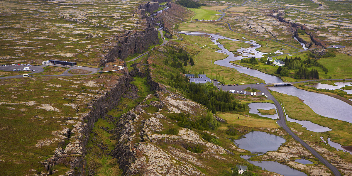 Thingvellir from air
